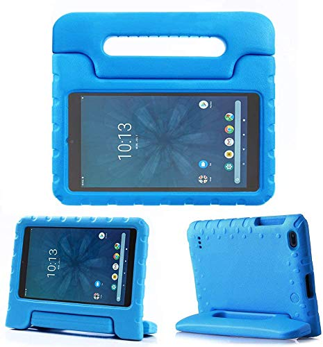 """Golden Sheeps Kid Friendly Case Compatible for Walmart onn. 8"""" Tablet 2020 (Model: 100011885) / 2019 (Model ONA19TB002) Shockproof Ultra Light Weight Convertible Handle Stand Cover (Blue)"""