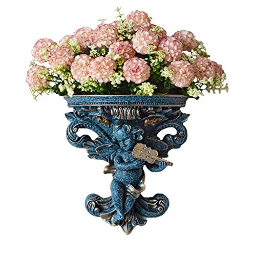 TY&WJ Modern 3D Wall Hanging Plant Pot,Home Decor Angel Planter Vase,Indoor Outdoor Cherub Wall Mount Flower Pot Statues For Succulent Faux Plant Living Room