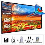Updated 150 Inch Portable Projector Screen, YF2009 16:9 HD Foldable Anti Crease Indoor Outdoor Movie Projection Screen for Camping/Home Theater/Office/Party - with Hooks and Ropes, Easy to Install