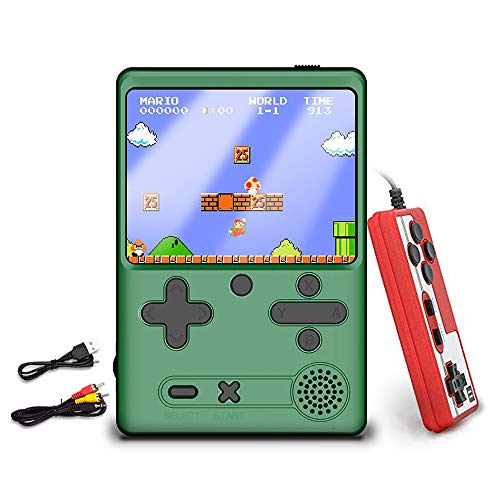 Handheld Game Console Retro Mini Video Game Player with Built in 500 Classic FC Games 30 Inch HD Screen Playstation Portable Game Console Support TV Connection amp Two Players for Kids Adults Green