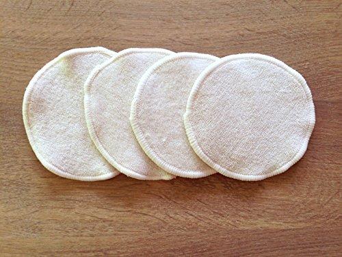 4 Lingettes démaquillantes lavables biface en coton bio 9 cm - Anaé France