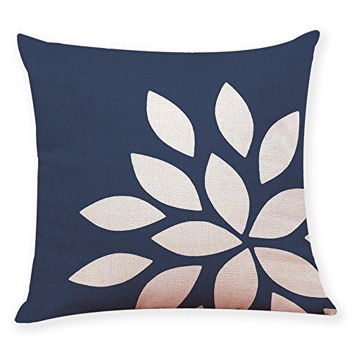 WUDUBE Home Decoration Kissenbezug dunkelblau Stil werfen Kissenbezug Auto Kissenbezug 45 cm x 45 cm