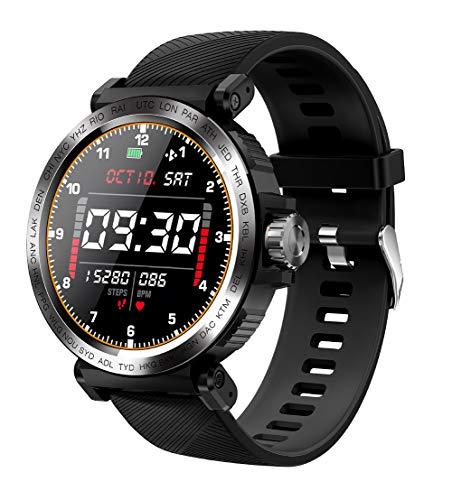 Reloj Inteligente con Pantalla táctil Completa de 1,28 Pulgadas, Reloj Deportivo Impermeable IP68 Masculino y Femenino con Monitor de frecuencia cardíaca con cronómetro, Adecuado para Android e iOS