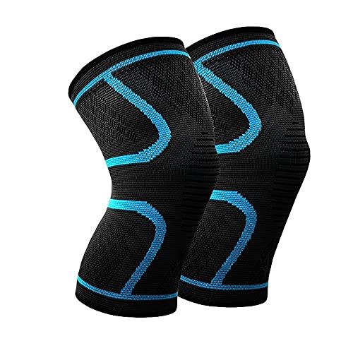W.Z.H.H.H Rodilleras 1 par Protector de la Rodilla Deportes Running Knee Pads Riding Baloncesto for Hombres y Mujeres de la Guardia Rodilla y Transpirable (Color : Sky Blue, Size : 3XL)