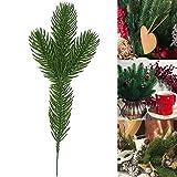 Aemiy 10/30/50 Piezas Artificial Pino Ramas Árbol de Navidad Navidad Adornos Hogar Adornos - 50pcs