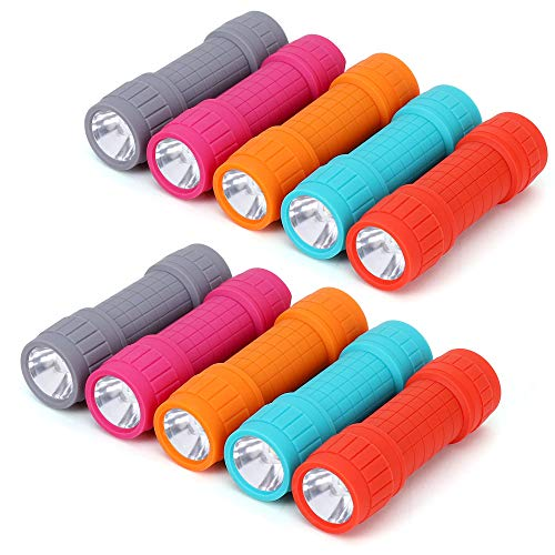 FASTPRO 10-Pack, Super Bright 100-Lumen (1W) LED Mini Flashlight Set, 30-Pieces AAA Dry Batteries are Included and Pre-Installed