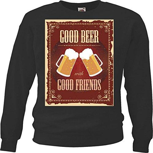 Trui, bier met goede vrienden, Bier De Vodka wijn witte wijn alcohol likeur, zwart
