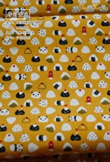 145x50cm Pastoral Floral Twill Cotton Fabric DIY Children's Wear Cloth Make Bedding Quilt Decoration Home 160-180g/m,Sushi...