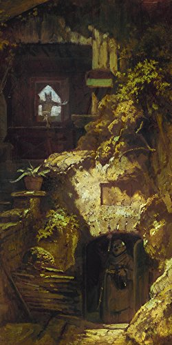 Artland Alte Meister Wandbild Carl Spitzweg Teufelsbeschwörung Leinwand Bilder 150 x 75 cm Kunstdruck Gemälde Biedermeier R1ER