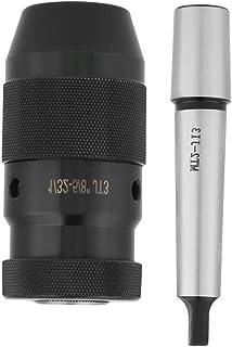 45#スチール、MT2-JT3テーパーアーバー付き0.002精度キーレスドリルチャック1-16mm容量のチャックアーバーセット、ドリル盤ボーリング旋盤用