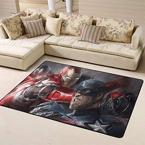 Zmacdk Avengers Infinity Alfombra para pasillo antideslizante para dormitorio infantil (150 cm x G240 cm), Avengers Infinity