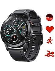 Honor Magic Watch 2 42 mm Smartwatch Fitness Tracker, Spo2 hartslag- en stressmonitor voor Android iOS 5 GPS geldautomaat waterdicht zwart