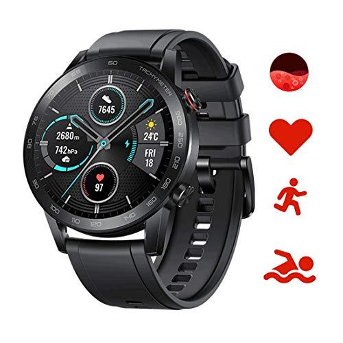 Honor MagicWatch 2 46 mm Smart Watch, Fitness-Aktivitätstracker mit Herzfrequenz- und Stressmonitor, SpO2-Monitor, Übungsmodi, GPS, 5 ATM wasserdicht