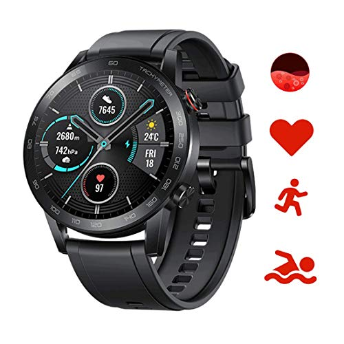 Honor Magic Watch 2 Smartwatch 46mm, Monitor de Frecuencia Cardíaca y Estrés, Spo2, GPS,14 Días Standy, 5ATM,15 Modos Deportivos, Llamada Bluetooth