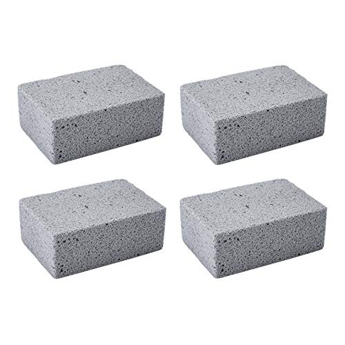 Sadocom Grill Brick Block Cleaning Pumice Stones Magic Stone Removing Grease and Stains for Barbeque Griddle/Flat Top Grill/Racks (pack of 4)