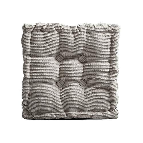 Baumwoll-Sitzkissen, dicke Sitzpolster für Erwachsene, Stuhl, Sessel, 10 cm dick, Kissen für Esszimmer, Küche, Garten, Terrasse (40 x 40 x 8 cm, grau)