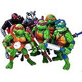Teenage Mutant Ninja Turtles TMNT Action Figures - Turtles Toy Doll-Mutants, Leonardo, Raphael, Michelangelo, Donatello 6 PCS Set New
