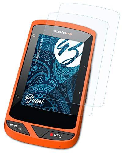 Bruni Película Protectora Compatible con Acer Xplova X5 Protector Película, Claro Lámina Protectora (2X)