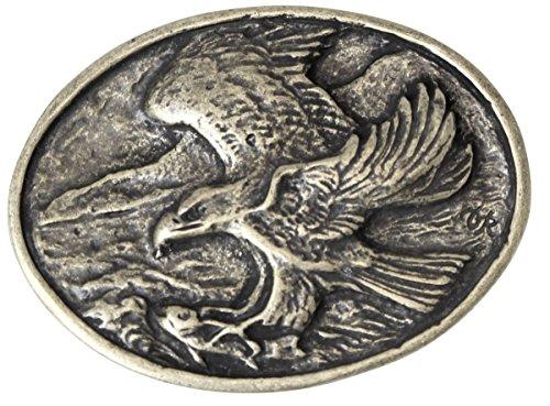 Gürtelschnalle Adler 4,0 cm | Buckle Wechselschließe Gürtelschließe 40mm Massiv | für Jagd-Outfit | Wechselgürtel bis 4cm | Altsilber