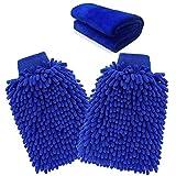 ariel-gxr Microfiber Mitt, Car wash mitt(2-Pack) noodle Microfiber Wash Gloves car cleaning Microfiber