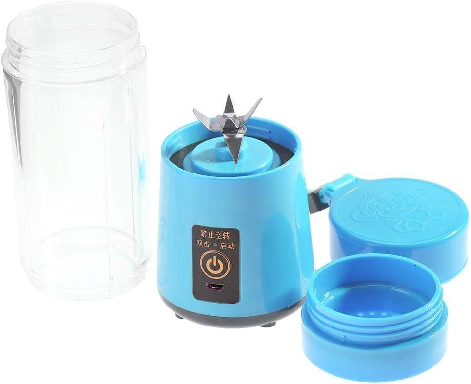 M/élangeur pour Shakes Smoothies Juice USB Rechargeable Juicer Cup Portable Mini Blender Cup Fruit Mixing Machine pour la maison//voyage Bleu