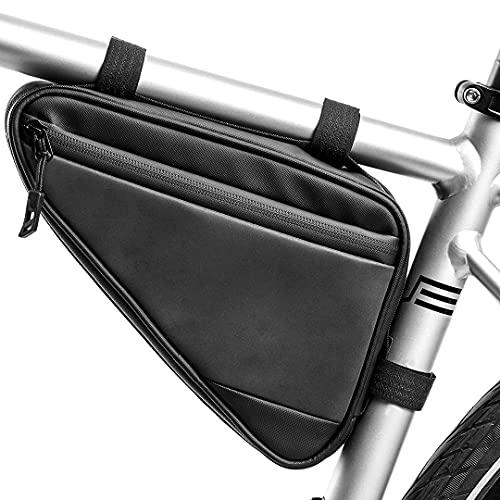 FSCLJ Bolsa de Marco Triangular para Bicicleta, Bolsa de sillín con Correa para Ciclismo de montaña y Carretera Reflectante Impermeable para Ciclismo para Herramienta de reparación