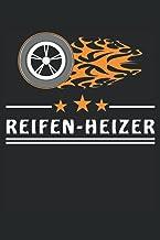 REIFEN-HEIZER: Reifen Feuer REIFEN-HEIZER. Liniertes Notizbuch-Tagebuch bzw. Übungsbuch mit 120 Seiten (German Edition)