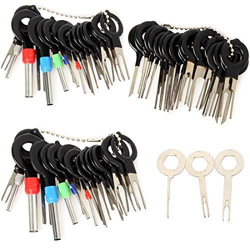 57 PCS Coche Terminal Eliminación Kit, Speyang Terminal Extracción Herramientas, Cableado Cable Extractor Pin Conector Crimp, Automática Terminale Extracción Pin Kit