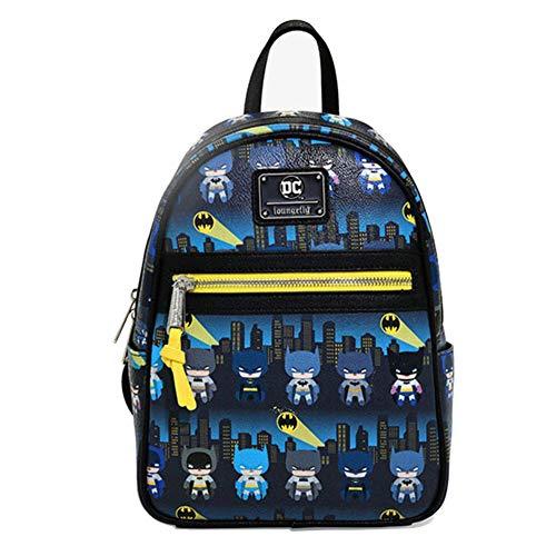 CLOUD Children Backpack Superhero Batman Cartoon Anime Student Schoolbag Men And Women Leisure Travel Rucksack Multi-colored-27cm*20cm*11cm