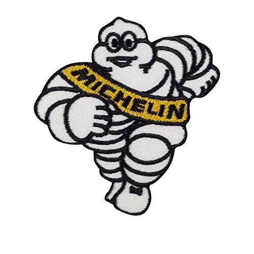 MICHELIN Bibendum Lucky Racing MOTORSPORT parche patch bordado con logotipo para planchar de hierro en apliques de...