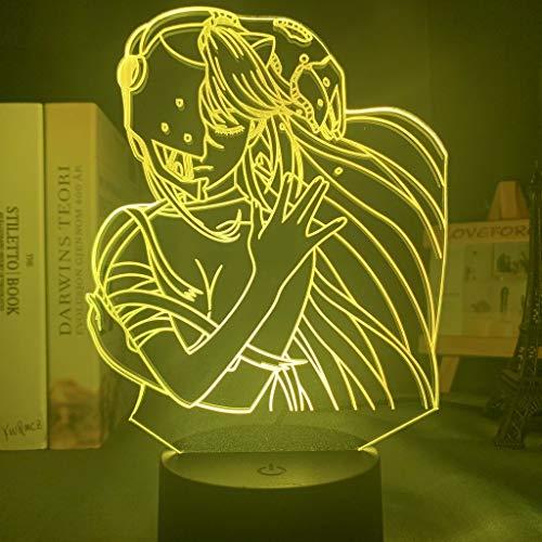 Acryl LED Nachtlicht Lampe Anime Elfen Lied Lucy Nyu Figur Schreibtisch 3D Lampe für Kinder Kinderzimmer Dekorative Nachtlicht Manga Geschenk, 16 Farben mit Fernbedienung