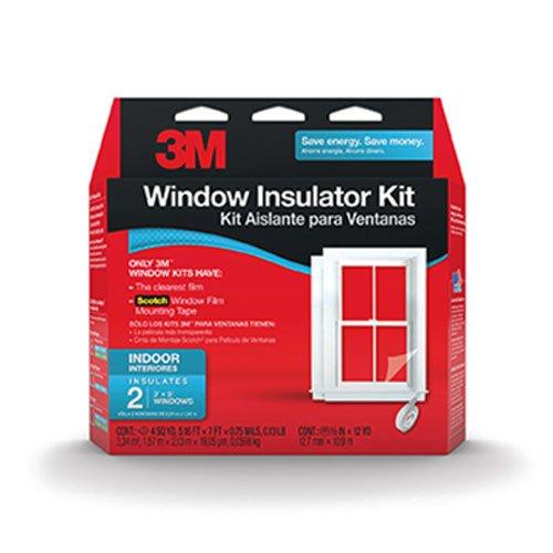 3M Indoor Window Insulator Kit, 2-Window Pack (2120W)