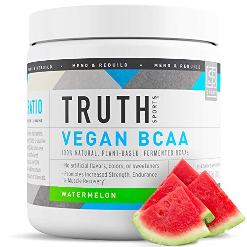 Truth Nutrition Vegan BCAA Powder- 2:1:1 Ratio All Natural Branched Chain Amino Acids for Energy, Muscle Building, Post Workout Recovery and Endurance (Watermelon, 30 Servings)
