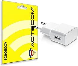 actecom® Cargador Carga Pared Blanco USB 2A Compatible para Samsung Note 8
