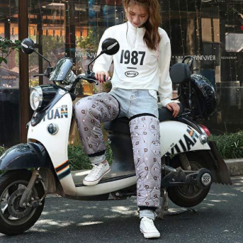 123 Elektrische motorfiets kniebeschermers voor mannen fietsen winddicht en koude winter warme elektrische paardrijden leggings beschermende uitrusting voorruit vrouwelijke knie pads-beer-grijs