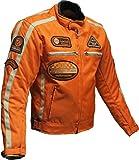 BOS Motorrad Jacke Motorrad Jacke orange Motorrad Jacke 4XL, Orange