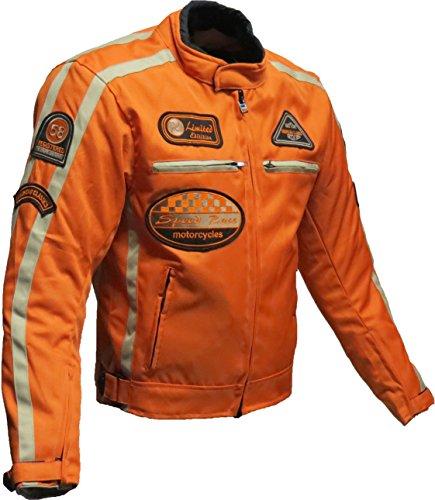 Motorrad Jacke Motorrad Jacke orange Motorrad Jacke L, Orange