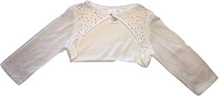 Biscotti Kate Mack Girl's 7-16 Fan Club Knit Shrug with Beads in Ivory