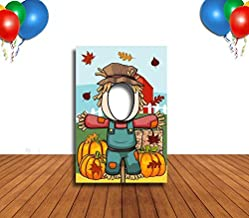 Scarecrow Hole in Face Banner, Medium, Face Cutout, Party Selfie Photo Prop, Birthday Decoration