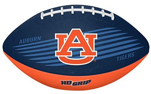 Rawlings NCAA Downfield Youth Size Football with 5X HD Grip, Auburn Tigers