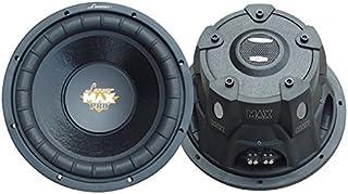 $50 » Lanzar 12in Car Subwoofer Speaker - Black Non-Pressed Paper Cone, Stamped Steel Basket, Dual 4 Ohm Impedance, 1600 Watt Po...