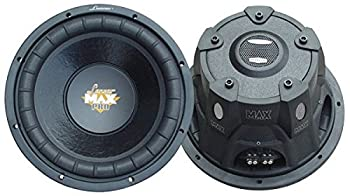 Lanzar 10in Car Subwoofer Speaker Non-Pressed Paper Cone Stamped Plastic Basket Dual 4 Ohm Impedance for Vehicle Audio Stereo Sound System MAXP104D