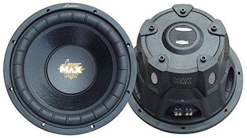 Lanzar 12in Car Subwoofer Speaker - Black Non-Pressed Paper Cone, Stamped Steel Basket, Dual 4 Ohm Impedance, 1600 Watt Power and Foam Edge Suspension for Vehicle Audio Stereo Sound System - MAXP124D