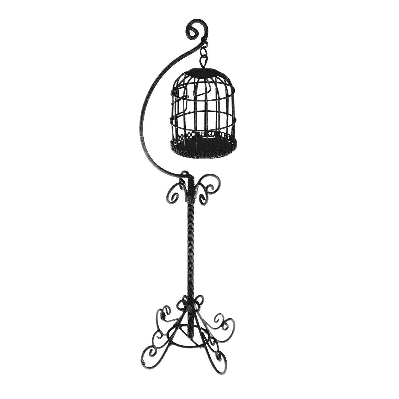 致命的改善する信頼性のある1/12スケール 鳥ケージ 鳥籠スタンド ホルダー ドールハウス用 ミニチュア 人形館 装飾
