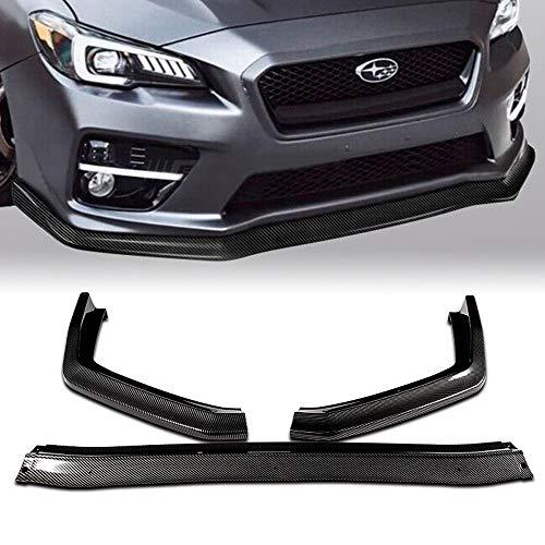 Stay Tuned Performance PU/674/PCF Carbon Fiber Print Front Bumper Body Kit Lip 3PCS Compaitble with 2015-2020 WRX STI Sedan