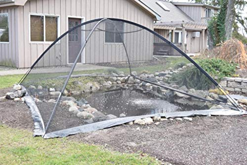 EasyPro+ PCT1317 Deluxe Pond & Garden Cover Tent Dome Netting 13x17 Feet, 3/8 Inch Mesh -Protection from Debris and Pests, Includes Sturdy Poles & Zipper, UV Resistant