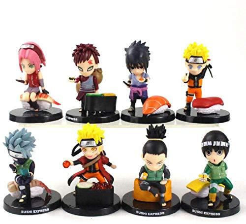 Anime Estatua MODELO8 Piezas/Lote Naruto Shippuden...