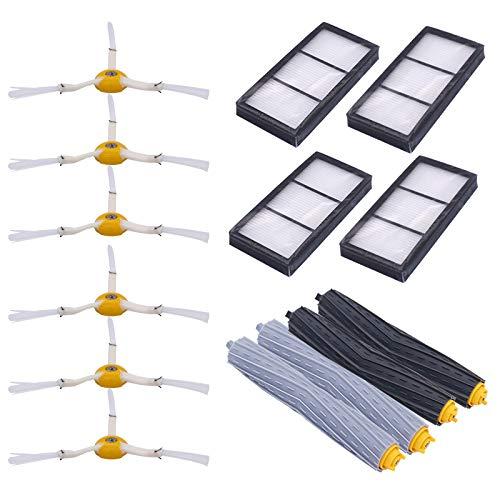 SDFIOSDOI Piezas de aspiradora Accesorios de Robot de Barrido Filtro HEPA Cepillo Lateral Ajuste para Irobot Fit para Roomba 800 Series 900 870 880 980 Serie Robot de Barrido (Color : B)