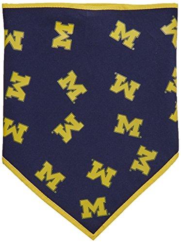 Collegiate Michigan Wolverines Pet Bandana, Small - New Design - Dog Bandana must-have for Birthdays, Parties, Sports Games etc..