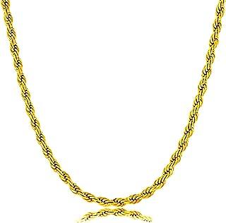 سلسلة ذهبي مجدول بشكل جذاب مدفر من الذهب الصيني مميزه ومناسبه للجميع طول 60 سم من J.A